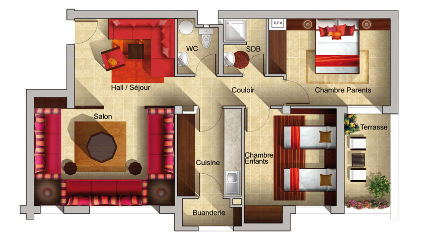 Plan Du0027appartement Manazil Maâmora